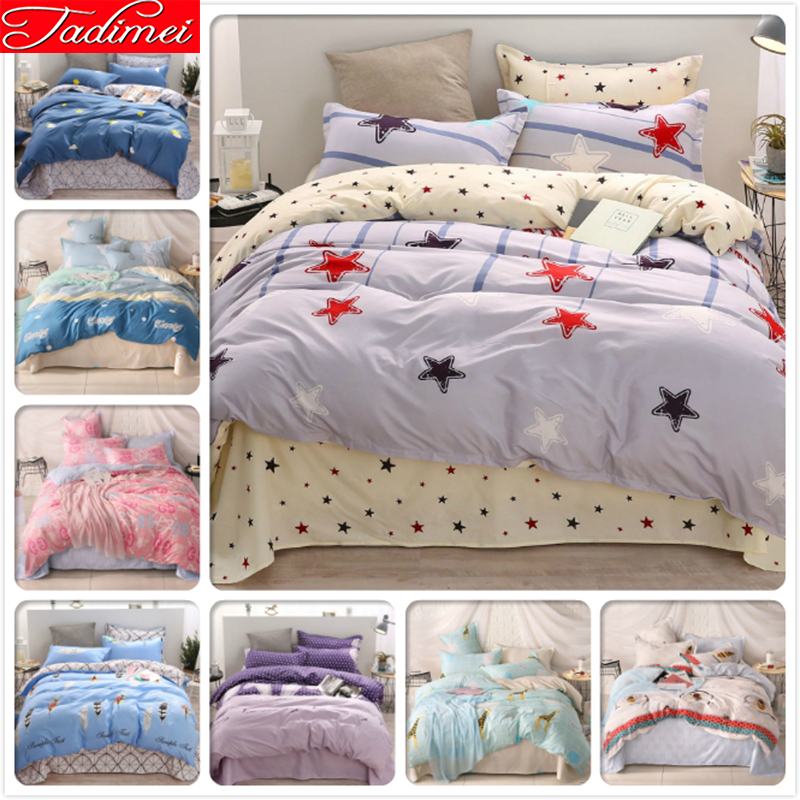 Colorful Stars Pattern Adult Kids Child Soft Cotton 3/4 pcs Bedding Set Single Full Queen King Size Bed Linen Bedspreads 150x200Colorful Stars Pattern Adult Kids Child Soft Cotton 3/4 pcs Bedding Set Single Full Queen King Size Bed Linen Bedspreads 150x200