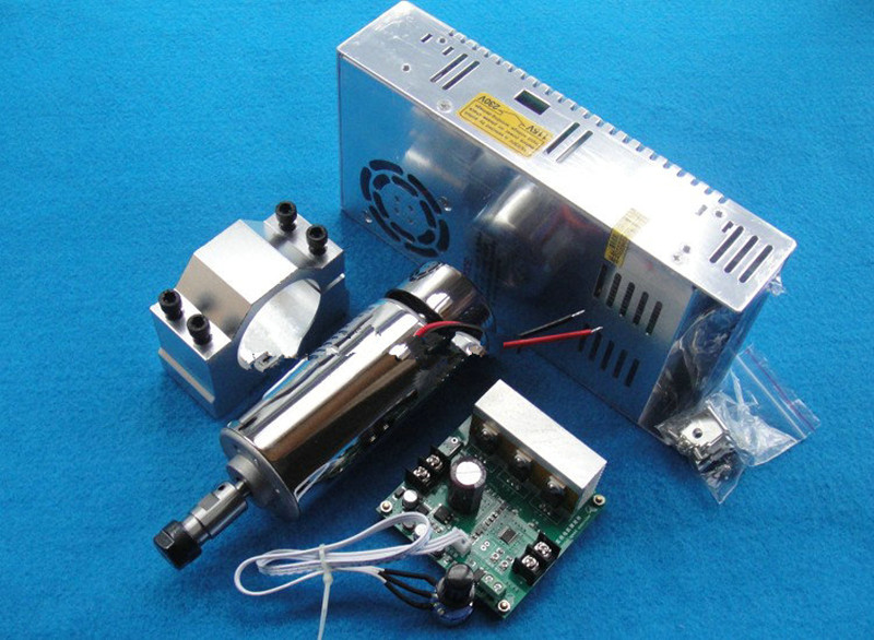 400w ER11 3000-12000RPM DC Brushed spindle motor&Power Supply&MACH3 speed controller&mount bracket CNC DIY kits freeshipping 0 to 10 vpwm spindle speed controller mach3 interface board