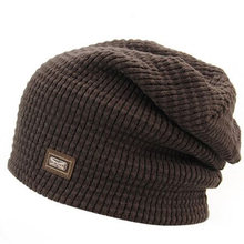 a41bbf1e912 1 Pcs 2017 New Winter Fashion Warm Pure Color Knitted Caps Korean Brand  Cotton Acrylic Hats For Men Skullies Beanies 5 Colors
