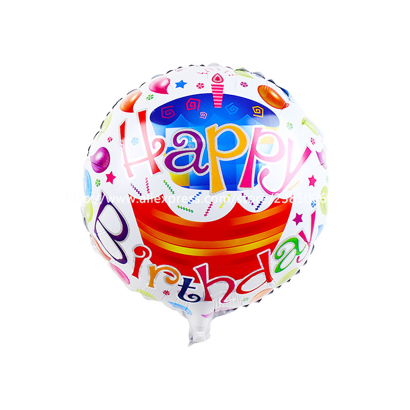 10pcs/lot The new 18-inch round Happy Birthday balloons holiday party decoration