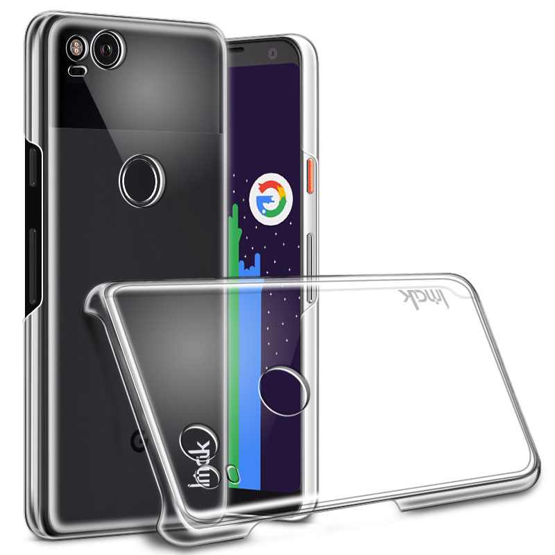 Crystal II Transparent PC Case For Google Pixel 2 Cover Hard Plastic Back Case For Google Pixel2 Dual Sim Clear Cover