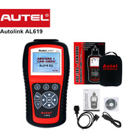 100 Original Autel Scanner AutoLink AL619 OBDII CAN ABS SRS Airbag Reset DTC Scan Tool Update