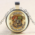 Hot sale time gem series MOVIE Harry Potter magic World The school badge of the Hogwarts School of Magic necklace&pendant NN030