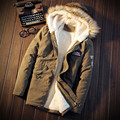 5XL 2017 Winter Brand Men Thick warm parka Fur Hood With Cashmere Winter Jacket High Quality Fashion Men's Coat Hot Sale 697
