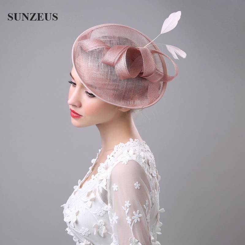 5d7955a92d0c2 Wholesale High Quality Hair Fascinators Bow Feathers Hats For Wedding Mother  Of The Bride Hats Hoed Voor Bruiloft Vrouwen SQ008-in Bridal Headwear from  ...