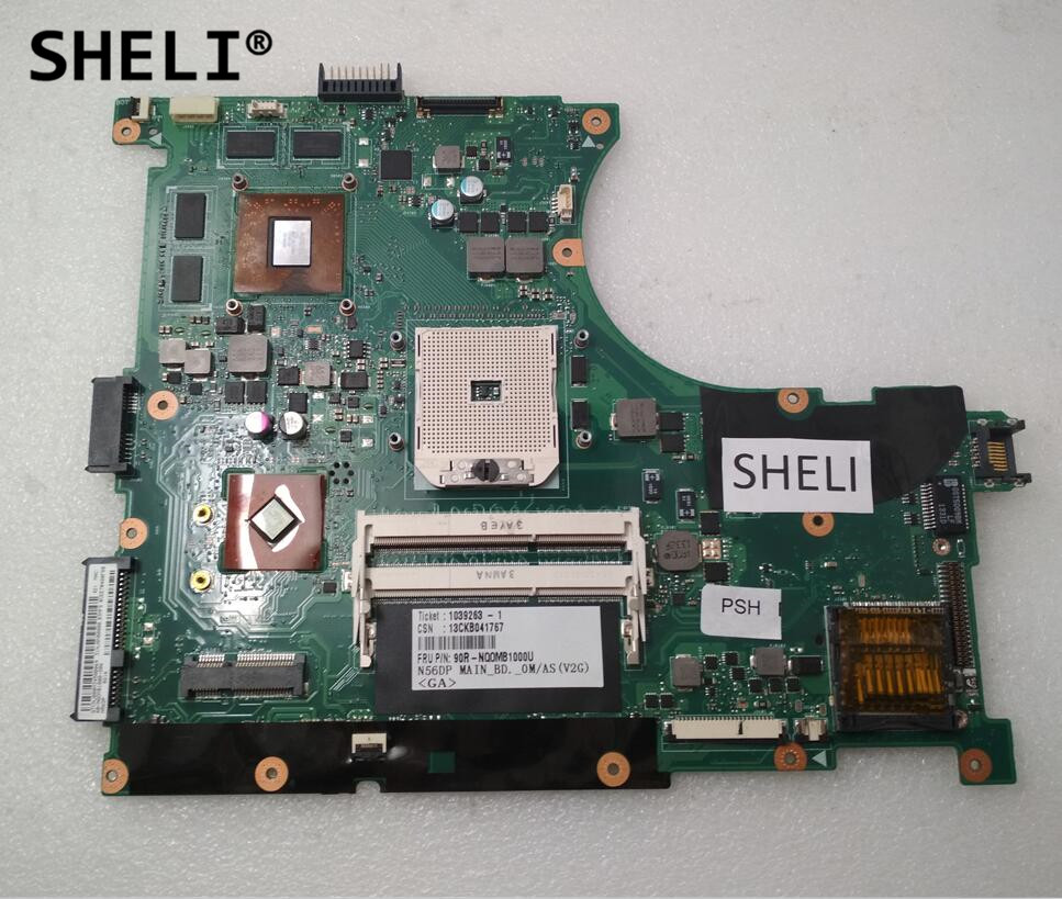 SHELI For Asus N56DP Motherboard with HD7730 2G 60-NQ0MB102-C03SHELI For Asus N56DP Motherboard with HD7730 2G 60-NQ0MB102-C03