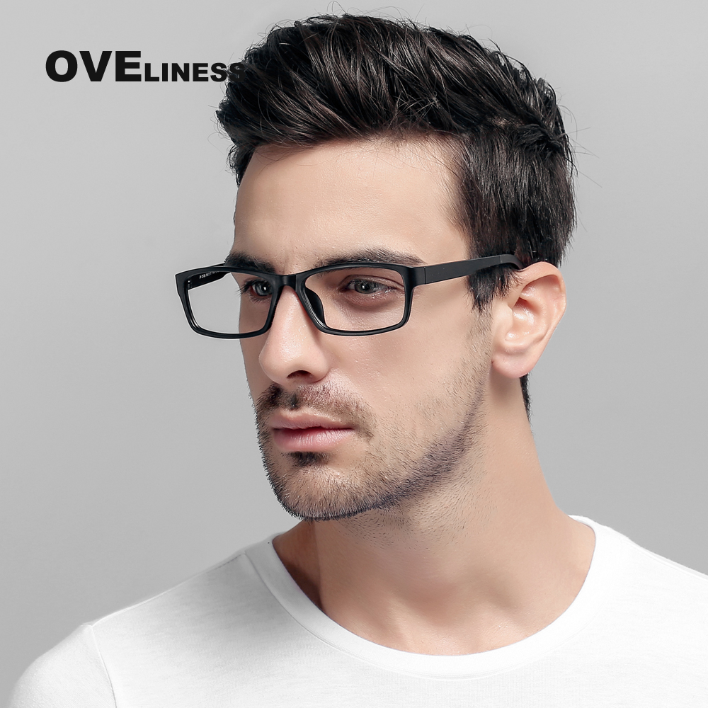 TR90 glasögonramar män glasögonramar kvinnor Optiska tydliga linser Läsglasögon Ögonglasögon Rammeskyddsglasögon