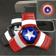Captain America Fidget Spiner Metal Shield Finger Slide Spinner For ADHD Anxiety Stress Relief Wheel Alloy Hot Sale Toys #E