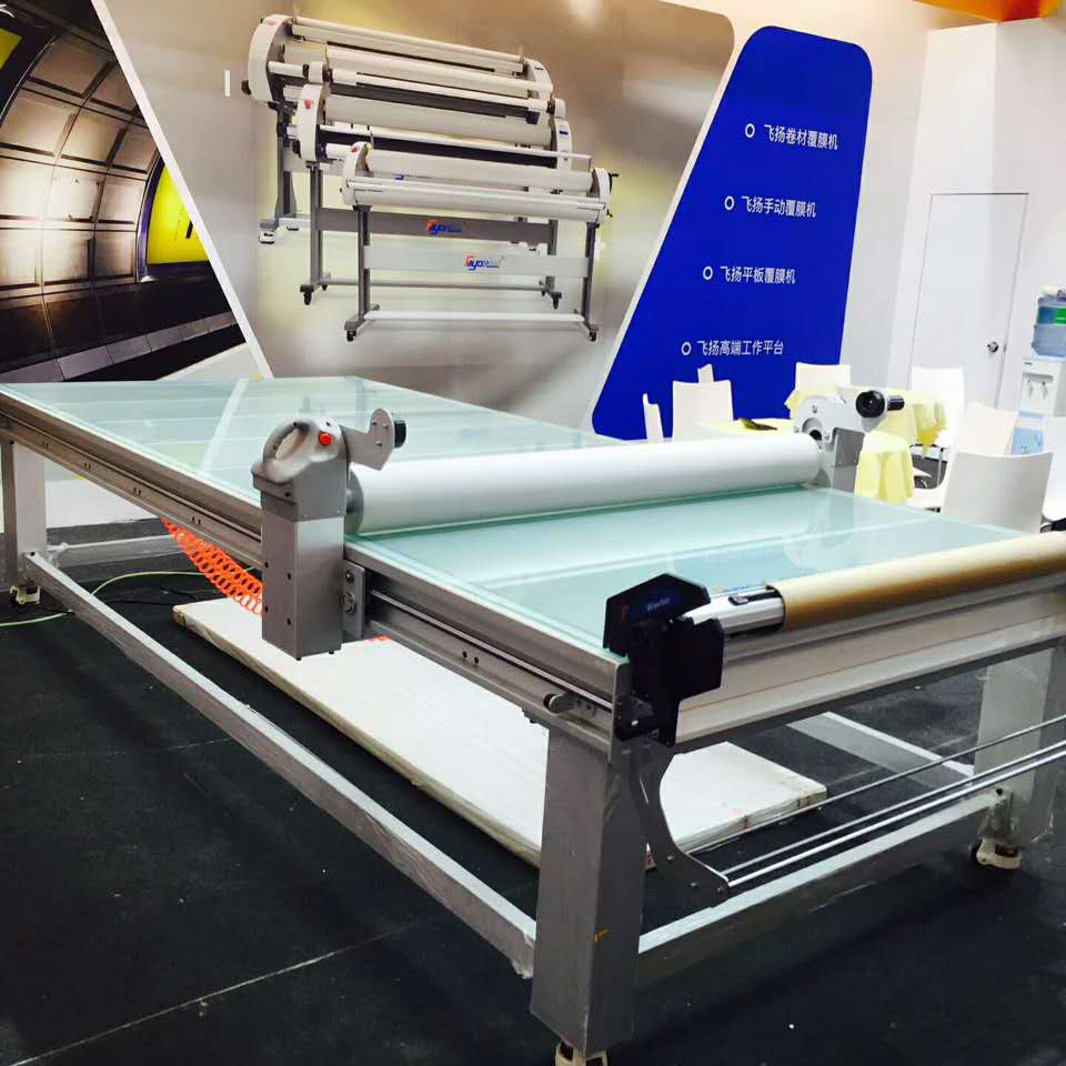 Multifunction Cold Lamination Machine , Flatbed Laminating Applicator With Working Table