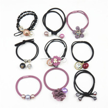 9PCS/SET Purple MIX Hair Accessories For Women Headband,Elastic Bands For Hair For Girls,Hair Band Hair Ornaments For Kids