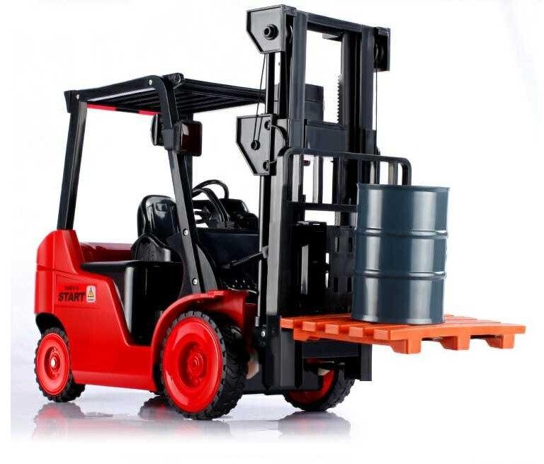 Duży rozmiar 1:8 11CH RC wózek widłowy dźwig samochodowy RTR inżynier pojazd zabawki dla dzieci pilot zdalnego sterowania samochód zabawka w Samochody RC od Zabawki i hobby na  Grupa 2