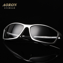 Aoron Polarized Men's sunglasses for drivers aluminum magnesium alloy frame sunglasses vintage style UV400 protection glasses