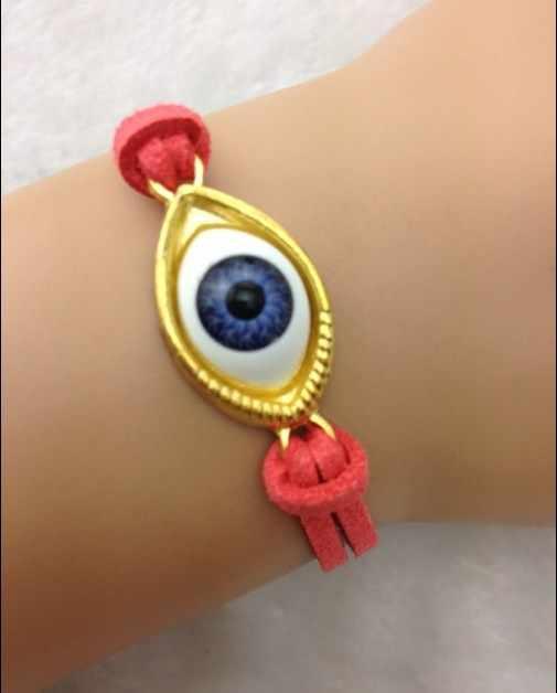 1 pc Evil Eye สร้อยข้อมือ Handcrafted Assemblage เครื่องประดับ Good Luck Good Fortune ป้องกัน Eyeball สร้อยข้อมือ 1669