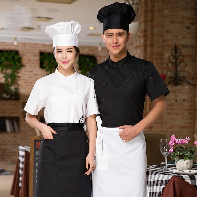 Makanan Layanan Desain Baru Putih Chef Seragam Restoran Dapur Masak Jaket Untuk Pria