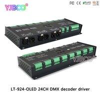 Светодиодный контроллер фирмы ltech драйвер LT 924 O светодиодный; 24CH контроллер dmx; с Функция усилитель сигнала; DC12 24V вход; 3A * 24CH выход