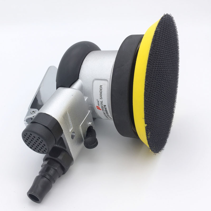 4 inch vacuum frosted surface round pneumatic sandpaper random track pneumatic sander pneumatic tools