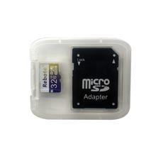 Reboto 64 ГБ карта micro sd class 10 карт памяти 32 ГБ 16 ГБ microsd карты micro sd flash 8 ГБ tf sdhc карты 4 ГБ с адаптер