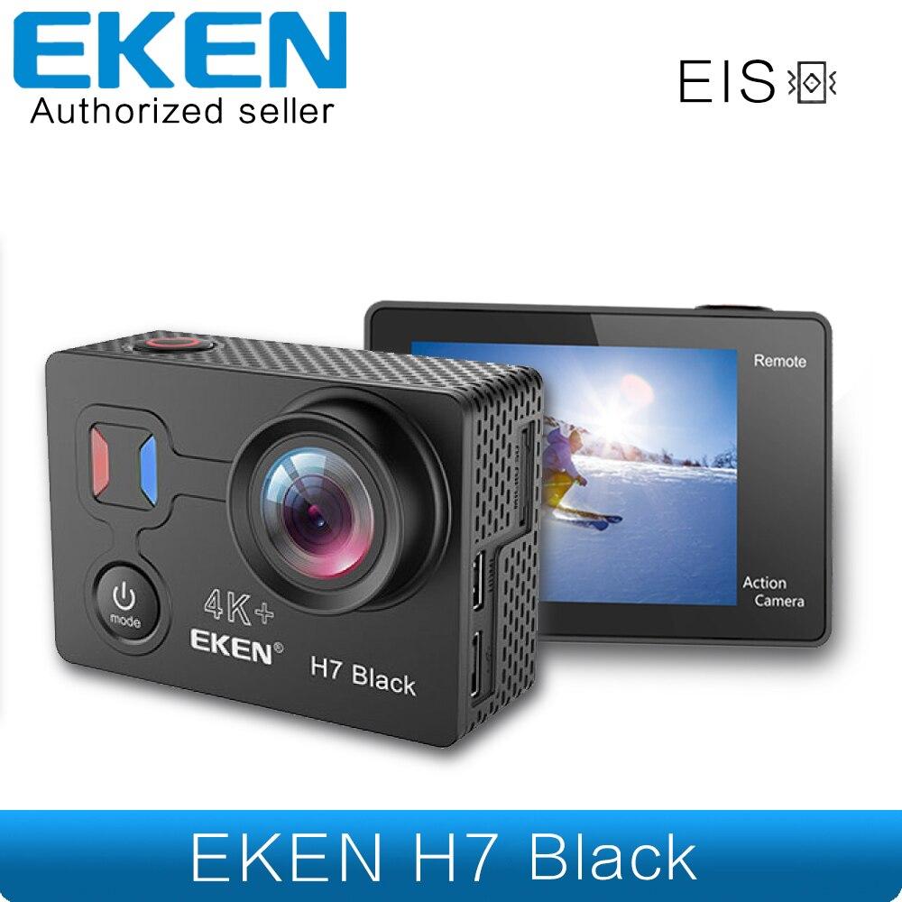 EKEN H7s H7 noir EIS 4 K 30fps écran tactile caméra d'action Utral HD vidéo 16mp photo WIFI 4 K + EIS caméra de sport