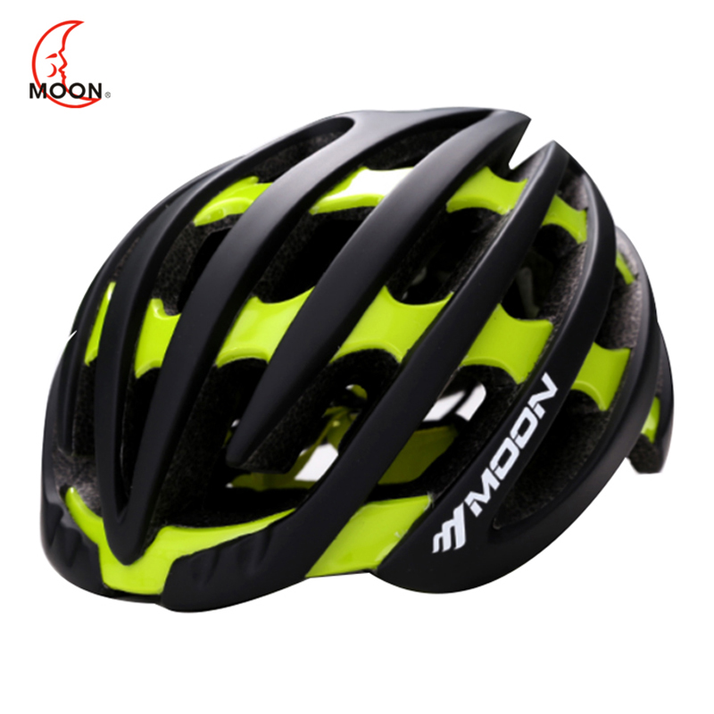Moon New Woman Man Racing M,L Bicycle Helmet Endurance MTB Cycling bike Protective Helmet Sports In-mold Cascos Ciclismo 55-62cm moon 2017 in mould led bicycle helmet