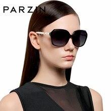 50a11c0223 PARZIN Кристалл Люкс Для женщин элегантные большие солнцезащитные очки  Пластик Рамка поляризованные очки так настоящие брендовые