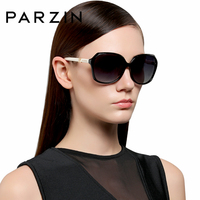 PARZIN Crystal Luxury Women Elegant Big Sunglasses Plastic Frame Polarized Eyewear So Real Brand Sun Glasses 9629
