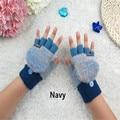2016 male and female winter new Half Finger fingerless gloves knitted warm flip   A33