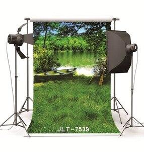 Image 2 - สีเขียวต้นไม้ทะเลสาบเรือแต่งงานเด็กไวนิลพื้นหลังสำหรับสตูดิโอถ่ายP Ropsเด็กฉากหลังสำหรับการถ่ายภาพ