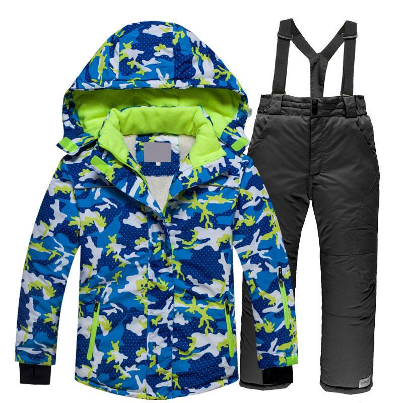 Dolce Antivento Sci Vestito Di Sport Dei Bambini Di Inverno Cappotto Esterno Impermeabile Pattinaggio Neve Ispessimento Body E Pagliaccetti Assorbe Il Sudore Del Vestito Di Sci