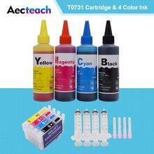 Aecteach T0731N для Epson T0731 заправка чернильного картриджа стилус CX8300 CX3900 CX7300 картриджи+ для принтера Epson заправка чернил 400 мл