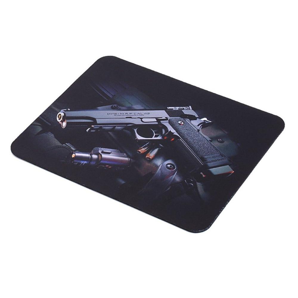 Guns Pattern Anti-Slip Laptop Computer PC Mice Gaming Mouse Pad Mat Mousepad For Optical Laser Mouse 22cm*18cm Drop Ship