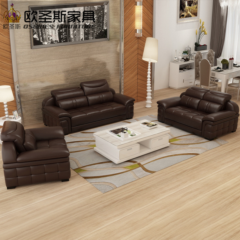 2017 new design italy Modern leather sofa ,soft comfortable livingroom genuine leather sofa ,real leather sofa set 321seat L29A post modernity new design french 3 modern leather sofa set classic white leather
