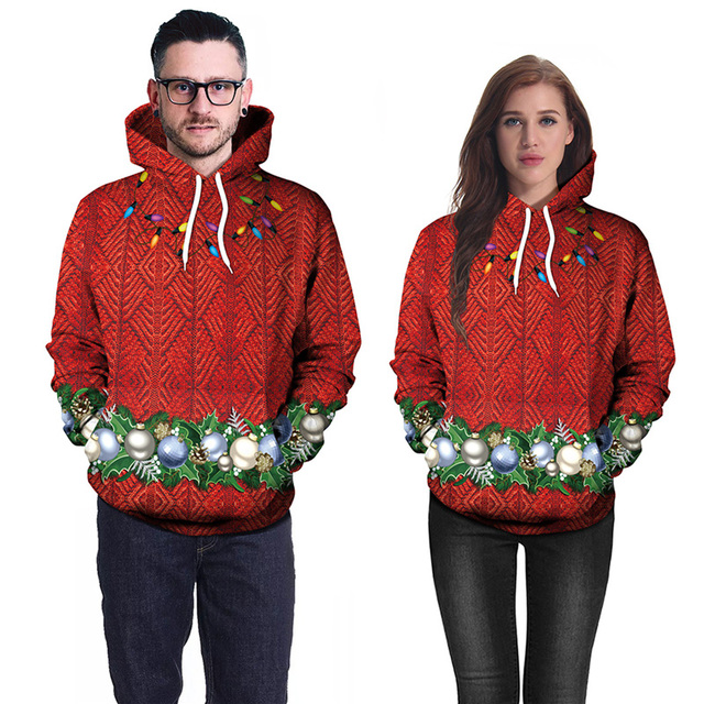 2018 Christmas Hoodies Men Women 3D Print Casual Red Mens Hoodie Sweatshirt  Loose Sweat Homme Sudadera Hombre Hip Hop Tops XXL ec0f24d8ca62