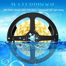 DC5V Led Strip Motion Sensor Fita Home Waterproof Light Bedroom Stairs Wardrobe SMD2835 Flexible Lamp tape
