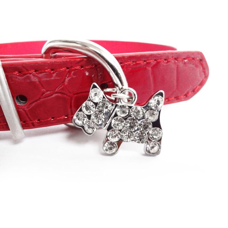 Croc odos šunų priedai mažiems šunims odos apykaklės šunų - Naminių gyvūnėlių produktai - Nuotrauka 4