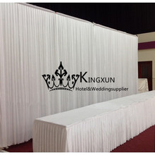 White Wedding Backdrop Wedding Curtain 3M*6M Free Shipping Best Price