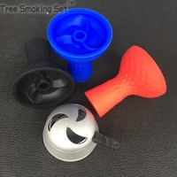 1pc Silica Hookah Head Bowl 1pc Metal smoke pot Accessories for shisha Tobacco for hookah smoking with taste narguile water pipe