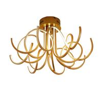 Modern Design Luxury Crystal Chandelier Round LED Ceiling Fixtures Living Room Lamp Fast Shipping