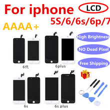AAAA+ For iPhone 6 LCD Screen Full Assembly For 6 Plus 6s 5S 6S plus Display Touch Screen Replacement Display No Dead Pixel