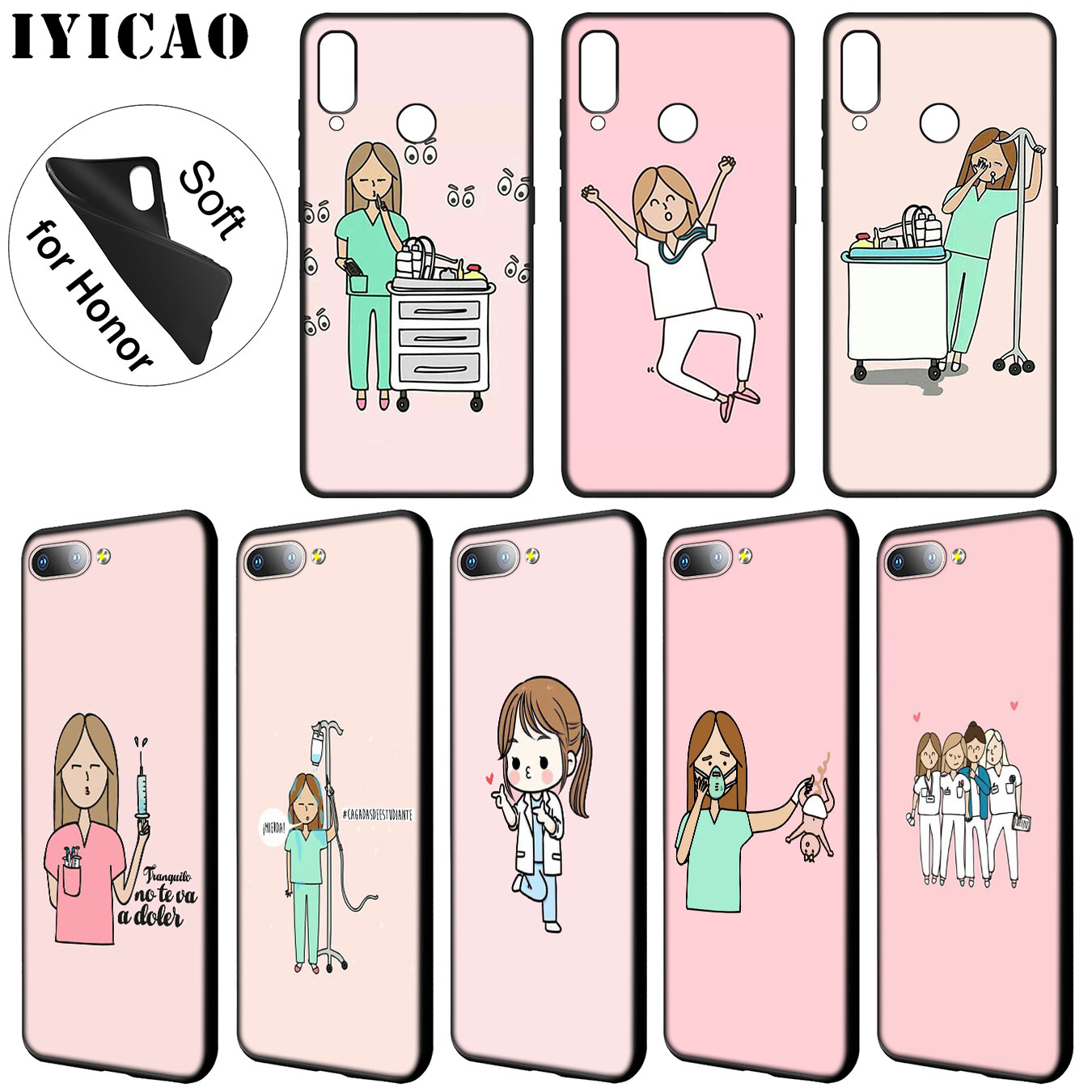 Smart Cartoon Doctor Nurse Hot Fashion Fun Dynamic Case For Huawei Y7 Y6 Prime Y9 2018 Y5 Honor 8c 8x 8 9 10 Lite 7c 7x 6a 7a Pro An Enriches And Nutrient For The Liver And Kidney Fitted Cases