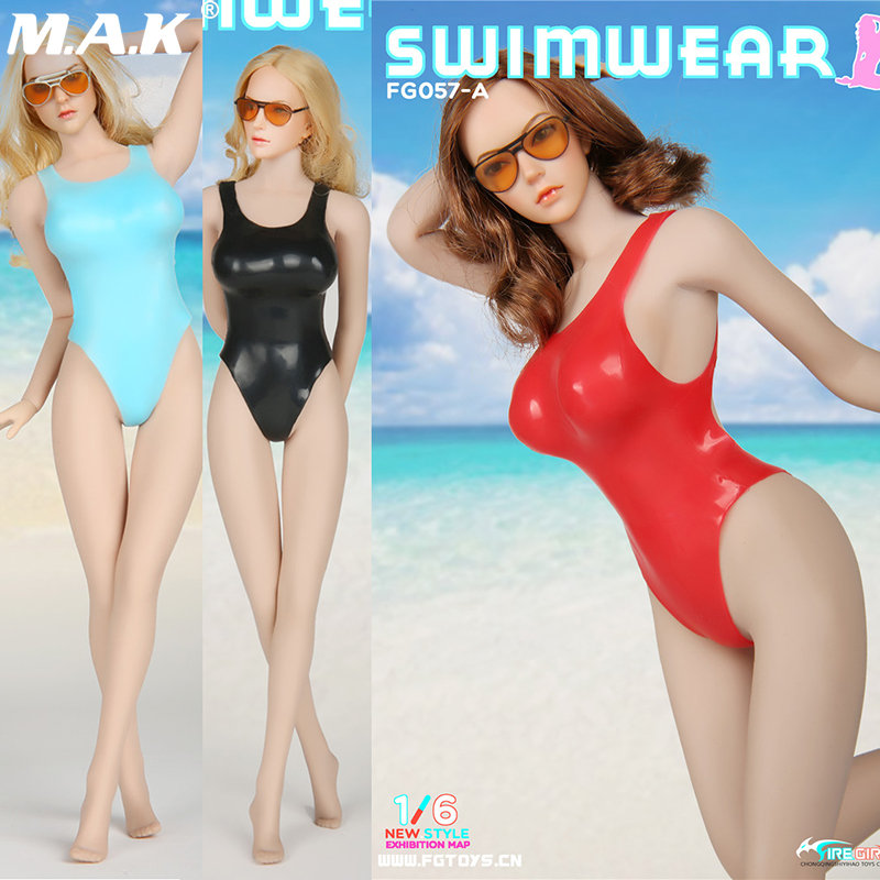 1/6 Scale Fire Girl Toys FG057 Sexy one piece sexy Cool bikini clothing set for 12