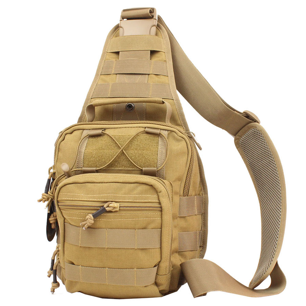 Unisex Multifunctional Military Sling Pack Chest Shoulder Satchel Bag Army Chest Sling Pack Fit for iPod