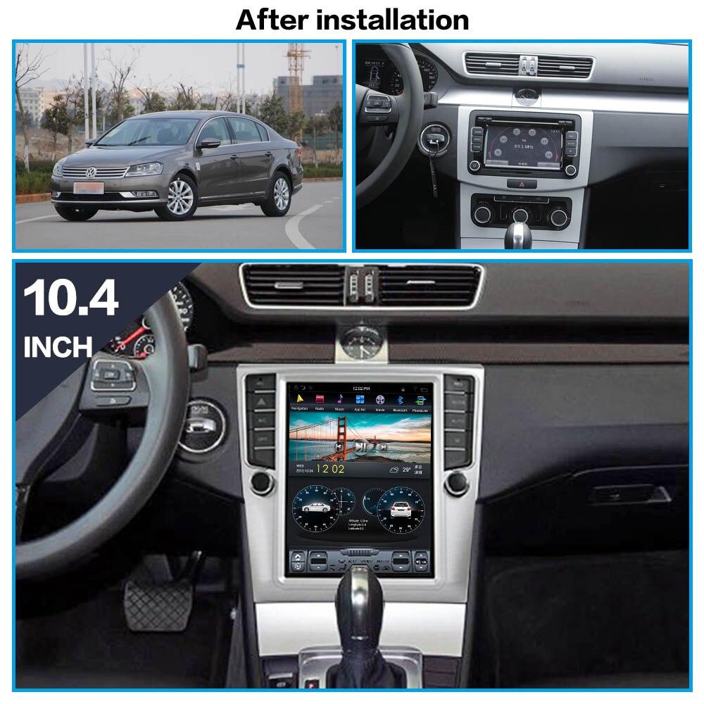 Tesla Android 8.1 Car No DVD Player GPS Navigation For Volkswage Magotan CC 2011-2014 Multimedia Radio Palyer Head Unit Recorder