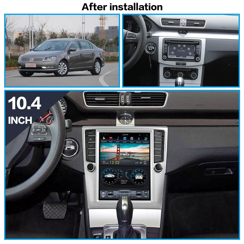 Tesla Android 8.1 Car No DVD player GPS Navigation For Volkswage Magotan CC 2011-2014 multimedia radio palyer head unit recorder
