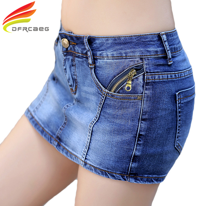 New 2017 Summer Denim Skirt Shorts Women Plus Size Vintage Short Jeans Female Fashion Jeans Shorts Skirt Feminino