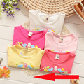 [Bosudhsou.] TS# Retail Cotton Girls T shirts Baby Girl Summer Short Sleeve Childrens Kids Children Clothing Blouse T-shirts