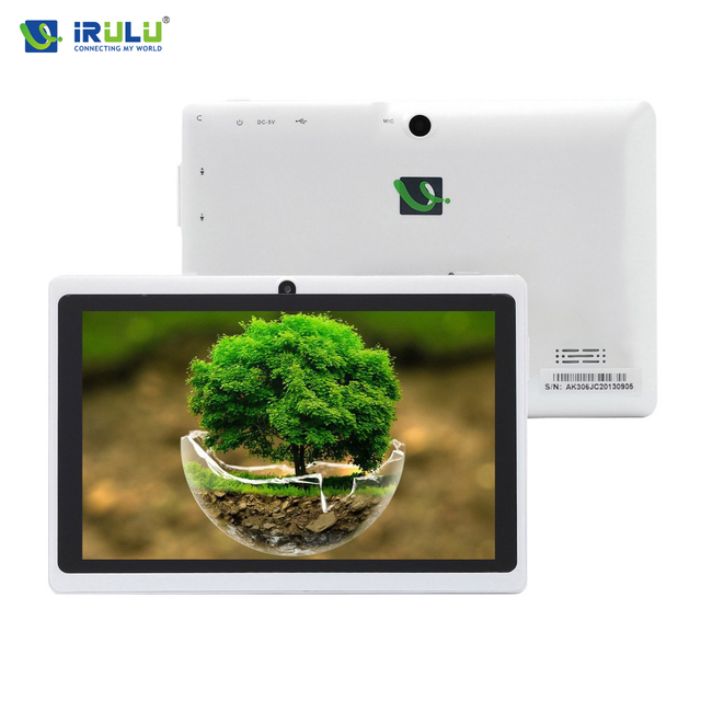 Original irulu expro 1x1 7 ''android 4.4 tablet pc 16 gb rom quad core tablet google play câmera dupla wifi mais barato tablet