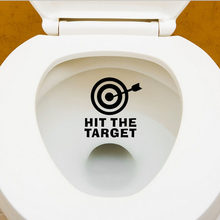 1Pc HOT SALE waterproof funny toilet sticker hit the target Bathroom personality Toilet Seat Sign Reminder potty training(China)