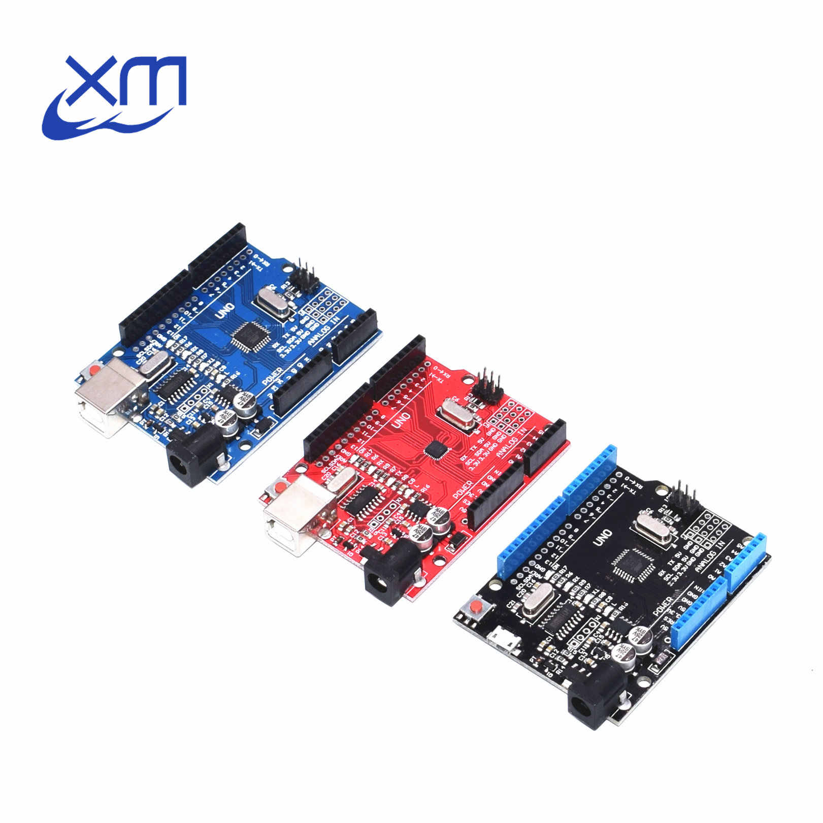 Un ensemble UNO R3 CH340G + MEGA328P ATMEGA16U2 câble USB 2.4 TFT écran LCD puce 16Mhz UNO R3 boad UNO Proto bouclier pour Arduino