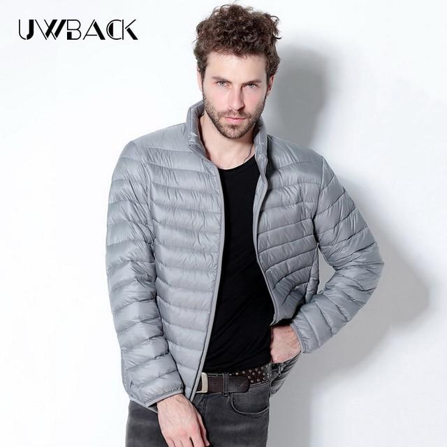 Uwback 2016 new brand winter jacket man long sleeve plus size 5XL 90% white duck down outwear coats homme ultralight coat TA113