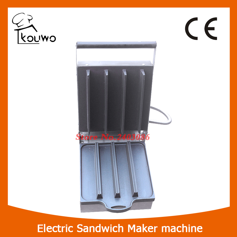 KOUWO Commercial Electric Sandwich Making machine/Japanese Sandwich Baker Machine for sale KW-100 6 4 4m bounce house combo pool and slide used commercial bounce houses for sale
